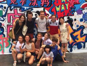 Yasemin and Chengdu Locals